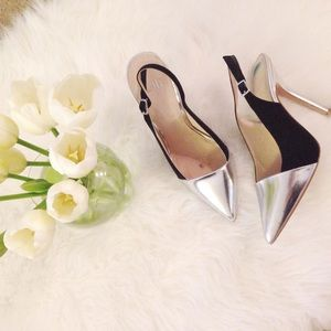 ASOS Shoes - Black and Silver Slingback Pumps