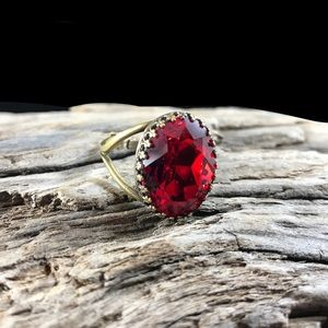 Jewelry - Handcrafted ring made with Swarovski crystal #5