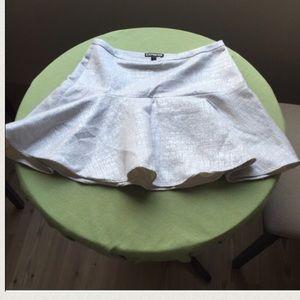 Express flared mini skirt 