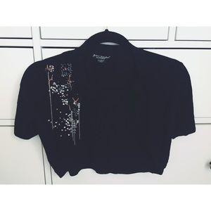 Short Sleeved Crop Sweater