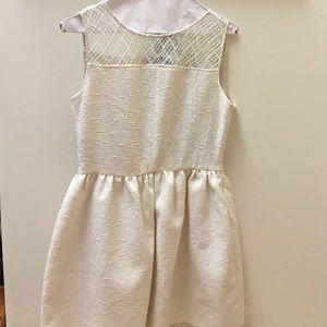 cream dress by Zara