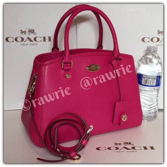 46% off Coach Handbags - New Coach pink leather Margot carryall ...