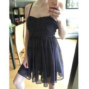 Elegant • Purple Chiffon Dress