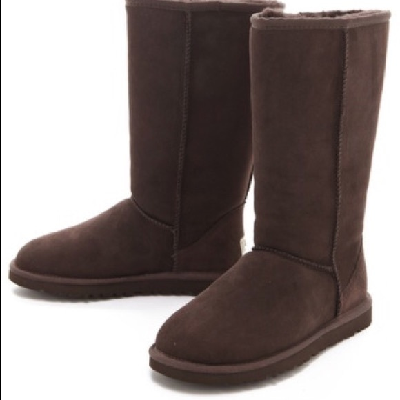 Dark brown Tall ugg boots