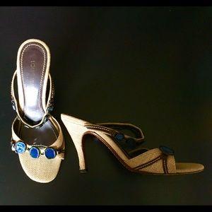Adorable Louis Vuitton Strappy Stilleto Sandals