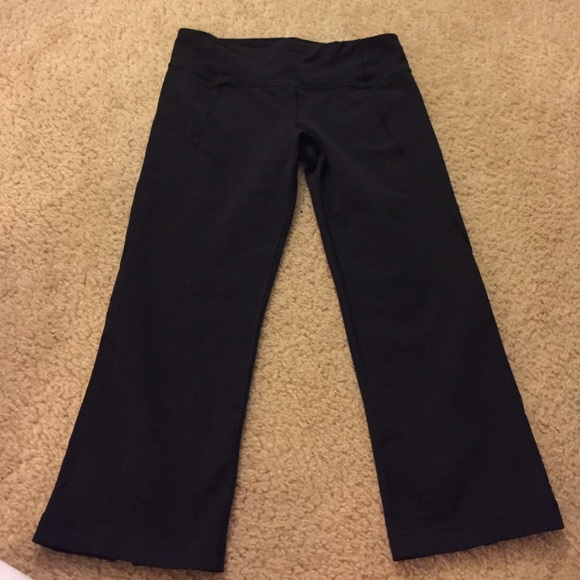 54% off lululemon athletica Pants - LuluLemon cropped yoga ...