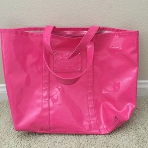 Victoria's Secret beach candy pink large tote bag