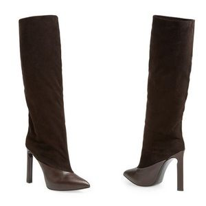 NWOB Jimmy Choo Suede Leather Derive Tall Boots 39