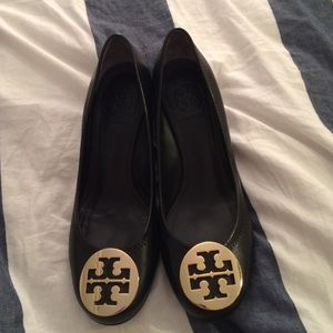 Tory Burch Black Wedge