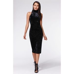 Pacsun Kendall and Kylie black midi dress