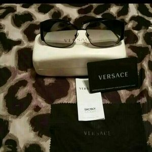 AUTHENTIC Versace Black Metal Sunglasses