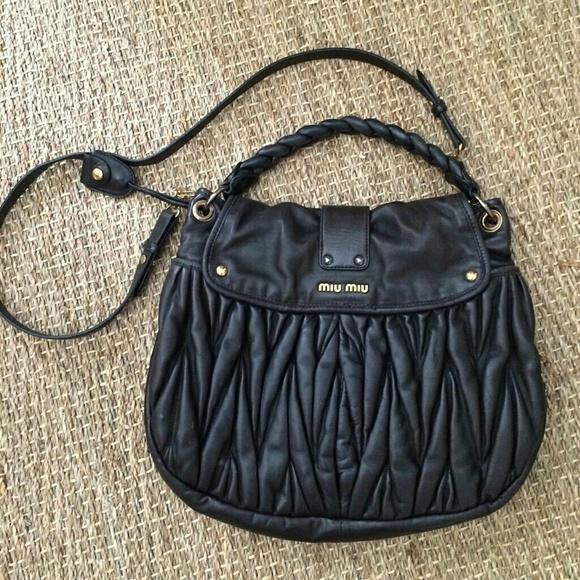 Miu Miu Black Coffer Matelasse Shopper Handbag. M 55642f3378b31c078101075d 2e80b1fb5572c