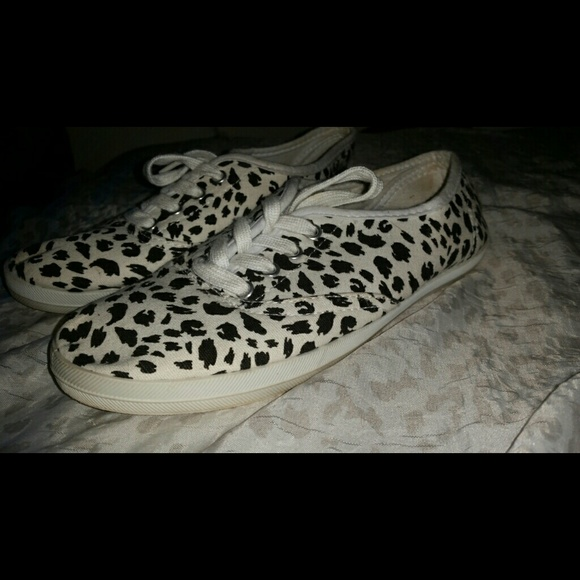 63% off Charlotte Russe Shoes - Leopard printed Tennis shoes from ...