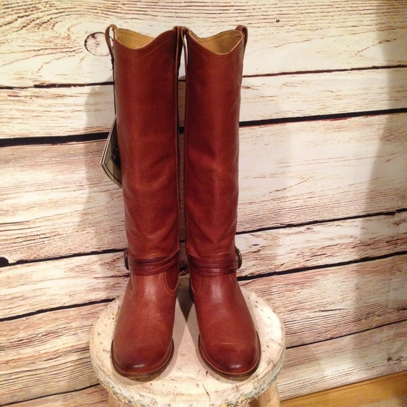 52% off Frye Boots - Frye cognac brown Harness Tall Riding Boots ...