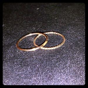 14k gold filled stacking rings sz 6