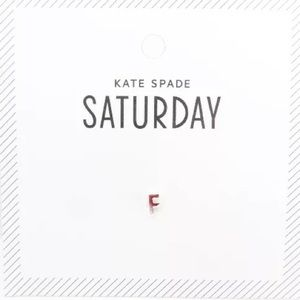Kate Spade Saturday Initial F Silver Earring