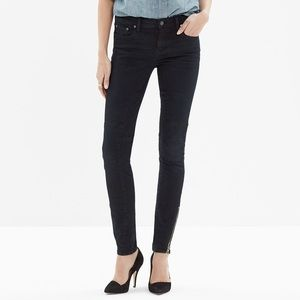 Madewell Skinny Skinny Zip Jeans in Rebel Wash 