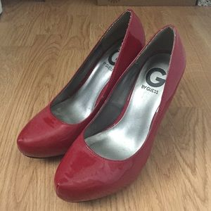G by Guess Red Patent Pumps