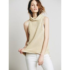 Free people Sleeveless turtleneck size S