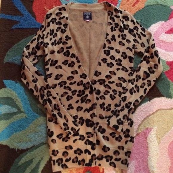 83% off PINK Victoria's Secret Sweaters - VS PINK Leopard Print ...