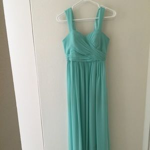 Petite Mint green bridesmaid dress