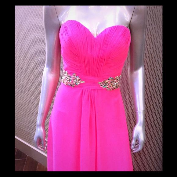 La Femme Dresses Neon Pink Formal Dress 19012 Poshmark
