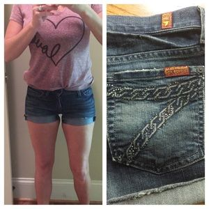 Seven for all mankind Jean shorts size 25