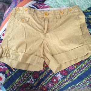 Anthropologie light yellow shorts