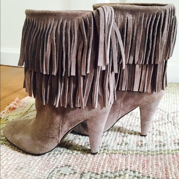 39 zara shoes sold zara gray suede fringe boots