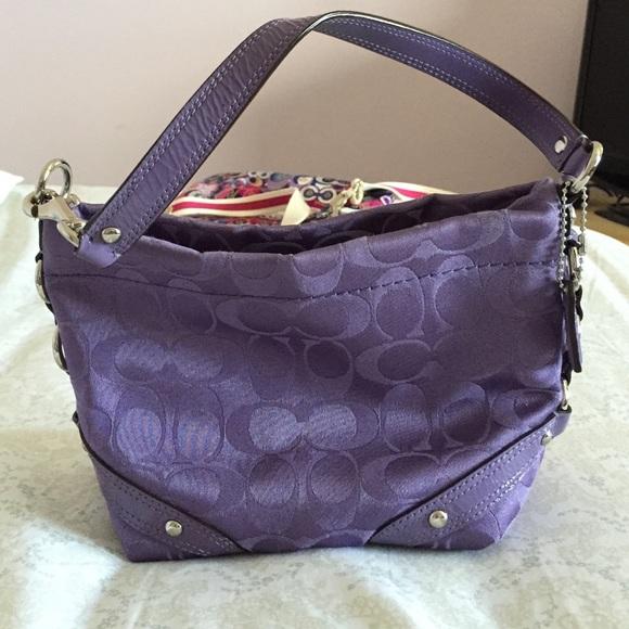 d704224ee793 Coach Handbags - Coach purse. Small purple. Super cute!