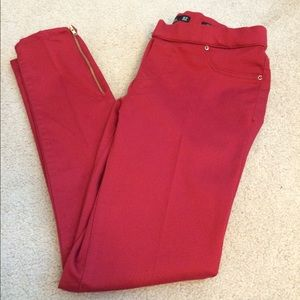 Zara red legging pants
