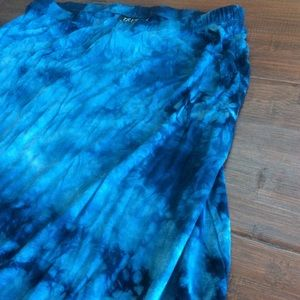 d3ef7b6825 Tryst by Matthew H. Skirts | Blue Tiedyed Maxi Skirt | Poshmark
