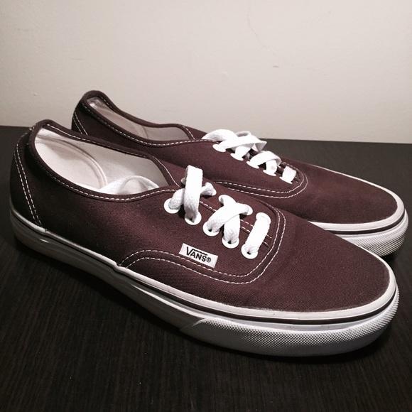 chocolate vans shoes