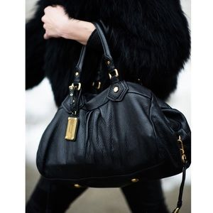 Marc Jacobs Groove Satchel Black Leather Handbag