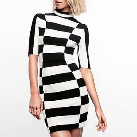 H&M Dresses - H&M Black & White Striped Dress