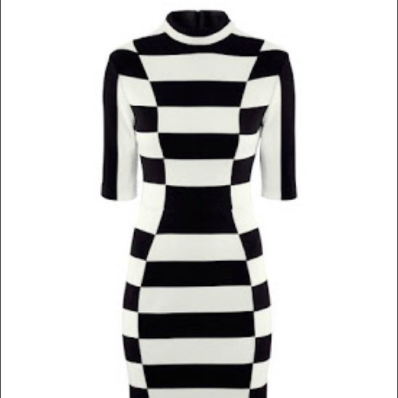 H&M Dresses - H&M Black & White Striped Dress