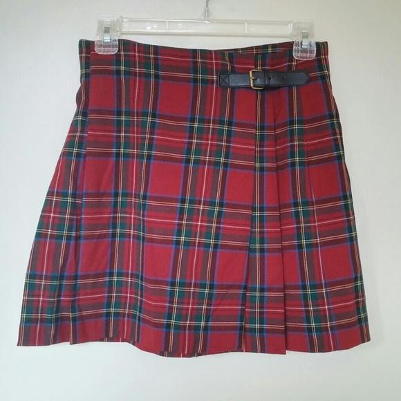 5b3245018 UNIQLO Skirts   Wool Blended Check Skirt   Poshmark
