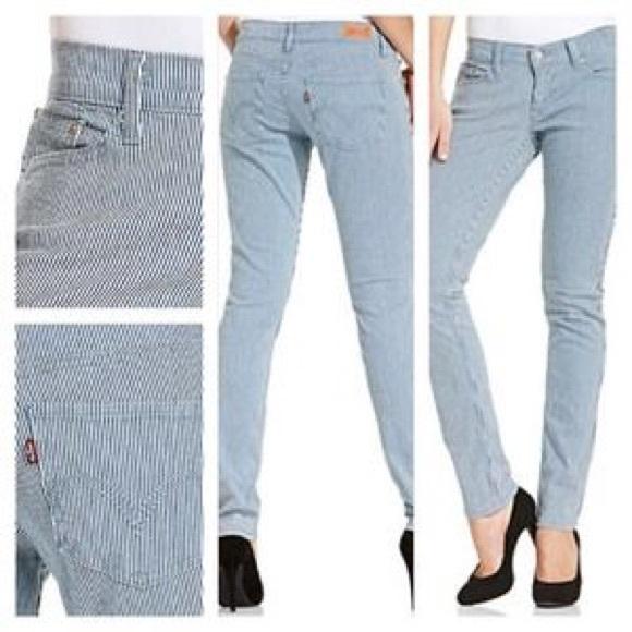 dd5328b2 Levi's Jeans | 524 Blue White Stripe Denim Levis | Poshmark