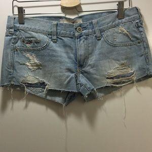 Hollister Denim - Distressed Hollister shorts