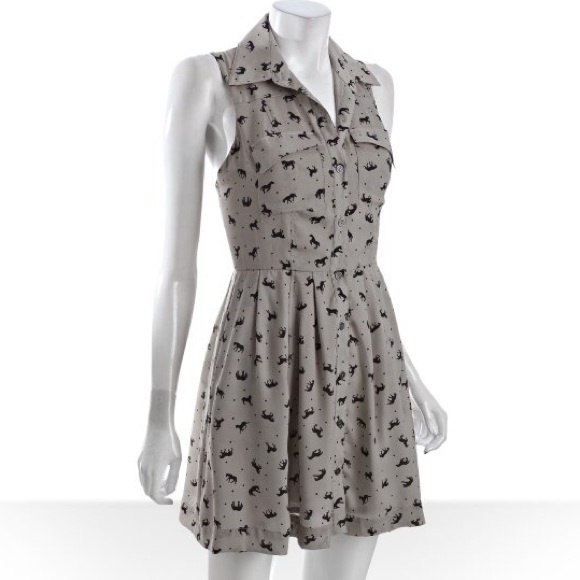 BCBGeneration Dresses & Skirts - BCBGeneration Fossil Horse Print Dress