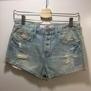 Hollister Denim - Distressed high waisted Hollister shorts