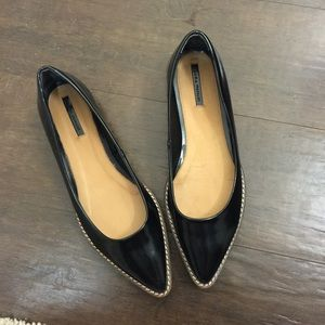 Zara Shoes - Zara Pointed ballet flats with track soles