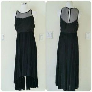 Ladakh Dresses & Skirts - Black high-low mesh dress