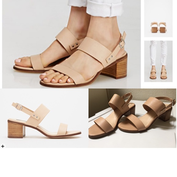 01b2a465e1283b Forever 21 Shoes - nude faux leather sling back sandals
