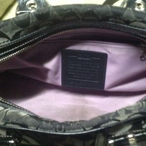 Coach Bags   Preloved Black Patched Monogram Bag Wallet   Poshmark 3cd51048ea