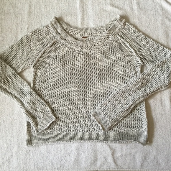 c4318a45ec Free People Sweaters - Free People Oatmeal Knit Sweater Size XS