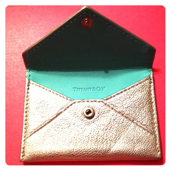 Tiffany co handbags tiffany co leather card holder poshmark tiffany co leather card holder colourmoves Images