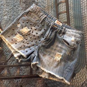 F21 Studded Shorts