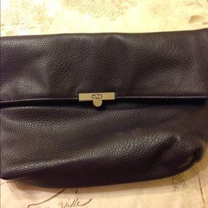 Handbags - Plum fold over clutch