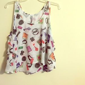Married to the Mob Tank Crop Top Sz. XL